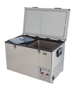National Luna 90L S/S Twin Fridge/Freezer (With Baskets)